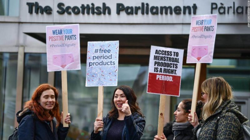 Scotland Make Period Products Free for all Campaign