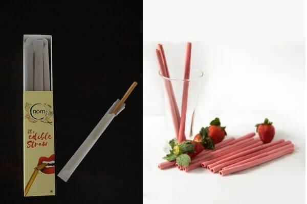 Strawberry Edible Straw