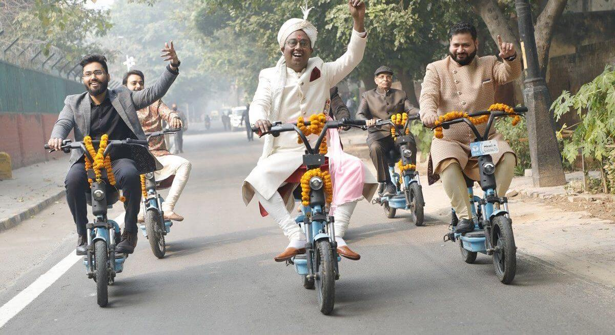 Baraat on Yulu e-Bikes, Tulsi Varmalas: A Delhi Wedding getting Viral for Right Reasons