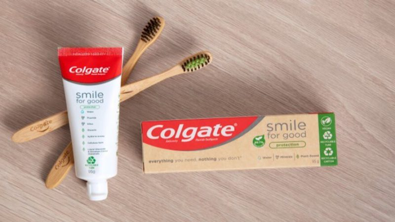Colgate recyclable tubes smile for good