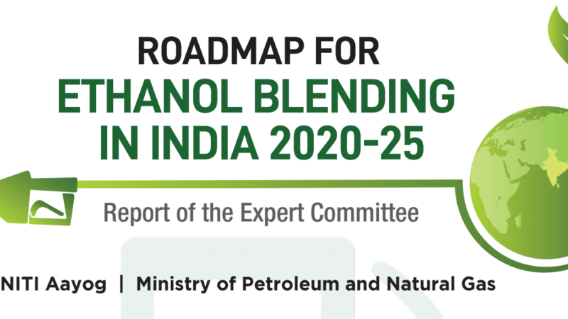 Roadmap for Ethanol Blending in India