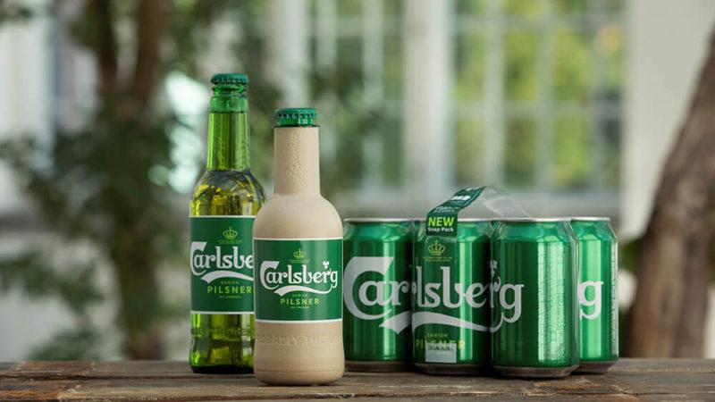 Carlsberg Paper Beer Bottle