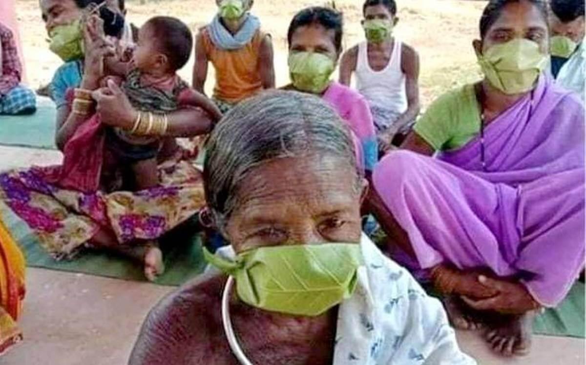 Masks Made of Medicinal Leaves