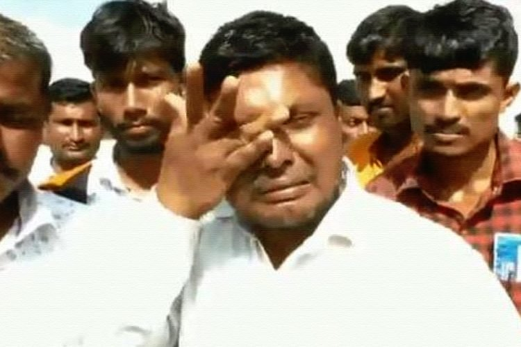 Crying Farmer Forced To Sell Onions At Rs 8 Per Kg In Maharashtra
