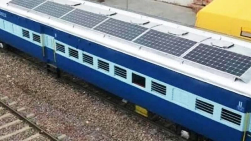 Indian Railway Mission Green Railways by 2030 solar power train