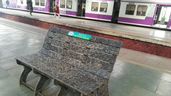 Indian Railway Recycled Plastic Benches