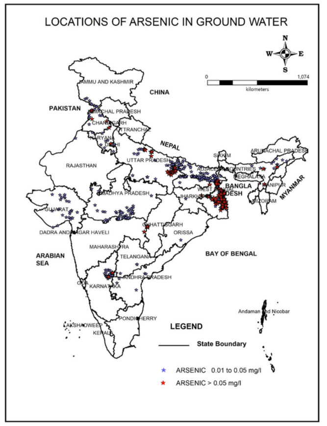 Arsenic Contamination in Ground-Water in India