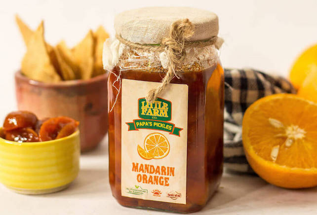 Organic Little-Farm-Co-Mandarin-Orange-Pickle No preservative handmade
