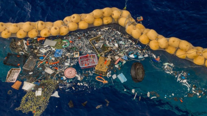 The Ocean Cleanup first mission in the Great Pacific Garbage Patch
