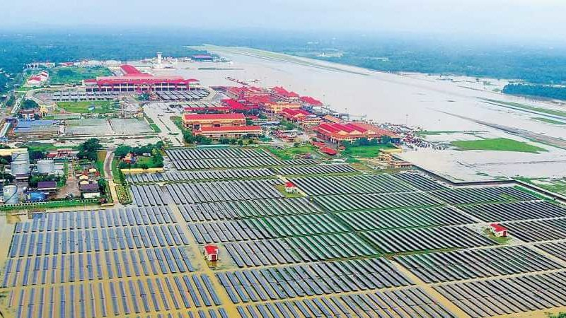 Kochi Airport grows Vegetables under Solar Power Plant